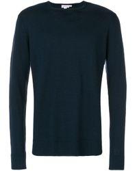 Maglione con girocollo di Sunspel in Blue da Uomo