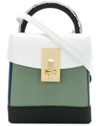 The Volon - Multicolor Contrast Panel Handbag - Lyst
