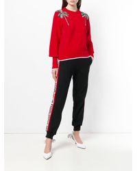 MSGM デコラティブ セーター Red