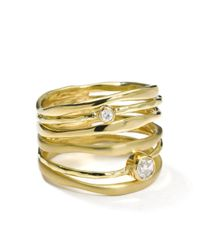Ippolita Metallic 18kt Yellow Gold Diamond Movie Star Ring
