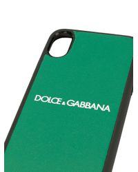 メンズ Dolce & Gabbana ロゴ Iphone X/xs ケース Green