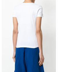Stefano Mortari White Fitted Short-sleeve Top