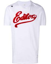 T-shirt con logo in 3D di Saucony in White da Uomo