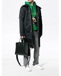 Fendi - Black Leather Briefcase With Shoulder Strap for Men - Lyst