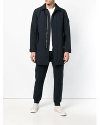 Lightweight padded trench Stone Island pour homme en coloris Blue