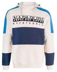 Sweat à capuche Biri à empiècements contrastants Napapijri pour homme en coloris Blue