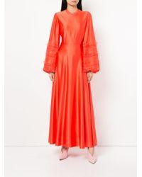 Roksanda Red Fringed Sleeve Dress
