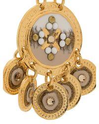 Gas Bijoux Metallic Sequin Double Earrings