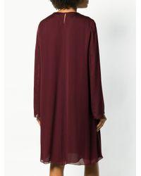 The Row Purple Long Sleeve Midi Dress