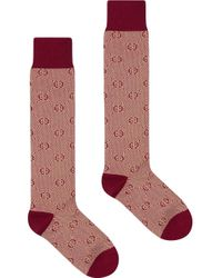 Носки С Узором GG Gucci для него, цвет: Red