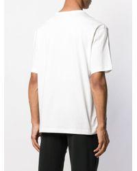 メンズ Adidas ロゴパッチ Tシャツ White
