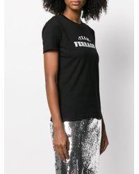 Camiseta con logo Chiara Ferragni de color Black