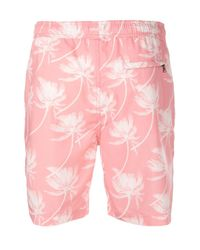 Short de bain Charles Onia pour homme en coloris Pink