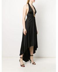 Roberto Cavalli タイガー ドレープドレス Black