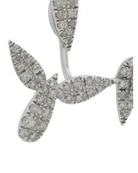 Yvonne Léon Metallic 18kt Gold And Diamond Cartilage Earrings