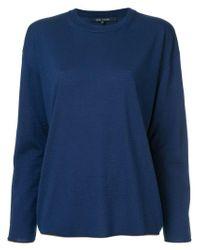 Sofie D'Hoore Blue Contrat Edged Sweater