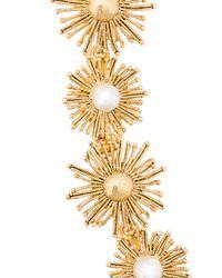 Oscar de la Renta - Metallic Sun Star Link Bracelet - Lyst