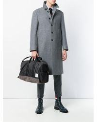 Thom Browne - Black Unstructured Holdall In Nylon And Suede for Men - Lyst
