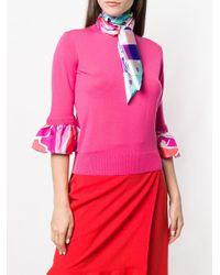Платок С Графическим Принтом Emilio Pucci, цвет: Pink