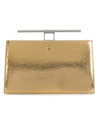 The Volon Metallic Top Bar Clutch