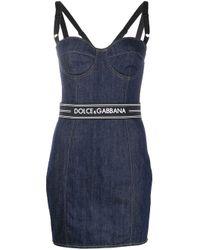 Dolce & Gabbana コットンデニムミニドレス Blue