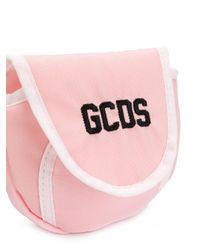 Gcds Pink Logo Belt Purse