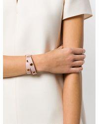 Ferragamo Pink Flower Wrap Bracelet