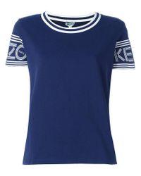 KENZO Blue Round Neck T-shirt