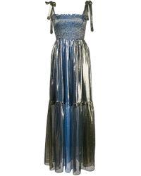 Vestito metallizzato Jade di Cynthia Rowley in Blue
