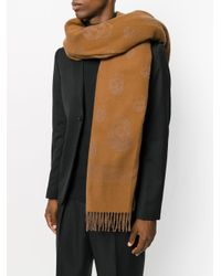 Alexander McQueen - Brown Skull Knit Scarf for Men - Lyst
