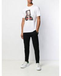 T-shirt Gangsta di Neil Barrett in White da Uomo