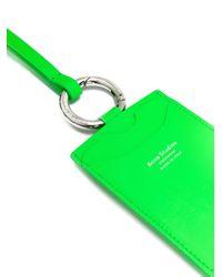 Acne カードケース ストラップ Green