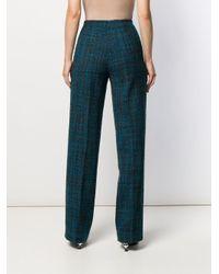 Erika Cavallini Semi Couture ツイード ストレートパンツ Blue