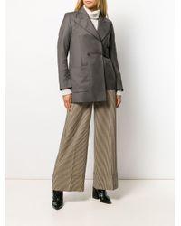 Blazer à taille ceinturée Eudon Choi en coloris Gray