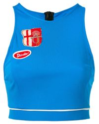 Mr & Mrs Italy Blue Patch Cropped Vest
