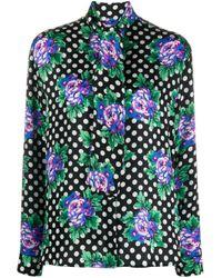Блузка В Горох С Цветочным Принтом Balenciaga, цвет: Multicolor