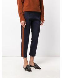 Joseph - Blue Contrast Side Panel Trousers - Lyst