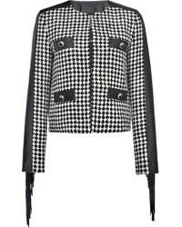 Pinko Black Houndstooth Tweed Jacket