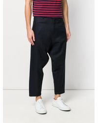 Societe Anonyme - Blue Cropped Drop Crotch Trousers - Lyst