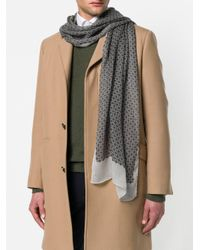 Pal Zileri - Gray Floral Print Scarf for Men - Lyst