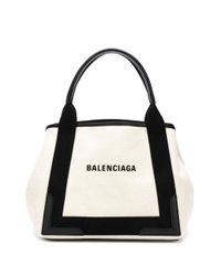 Balenciaga ネイビー カバ トートバッグ S Black