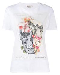 T-shirt con stampa di Alexander McQueen in White