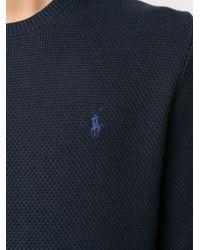 メンズ Polo Ralph Lauren ロゴ プルオーバー Blue