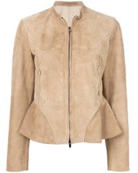 DROMe - Natural Collarless Jacket - Lyst