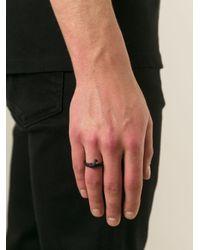 Ann Demeulemeester Black Bone Detail Ring for men
