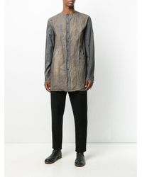 By Walid - Gray Dye-detail Shirt for Men - Lyst