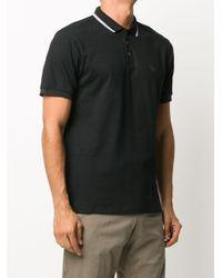 メンズ Emporio Armani ロゴ ポロシャツ Black