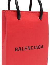 Balenciaga ショッピング フォンホルダーバッグ Red