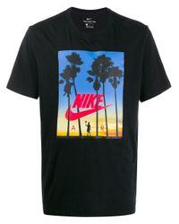 メンズ Nike ロゴ プリント Tシャツ Black