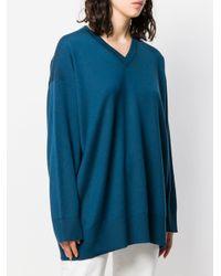 The Row Vネックセーター Blue